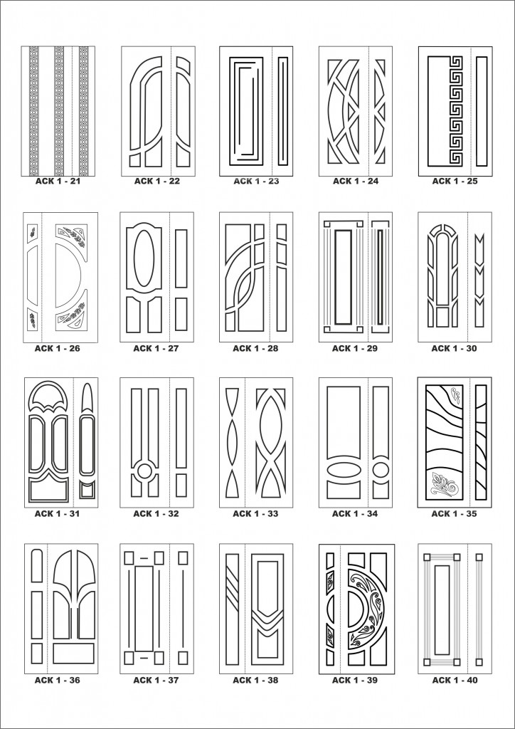 Фрезерування дверей візерунки