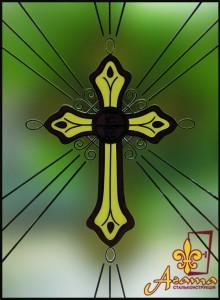 Вітраж хрест