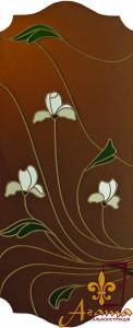 Вітраж з квітами