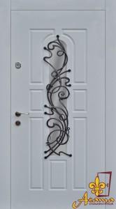 Двері з ковкою колібрі