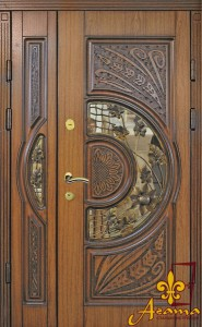 Двері з кованим соняшником