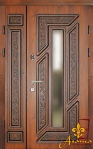 Двері з патиною і склопакетом