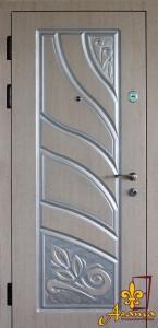 Двері срібна патина